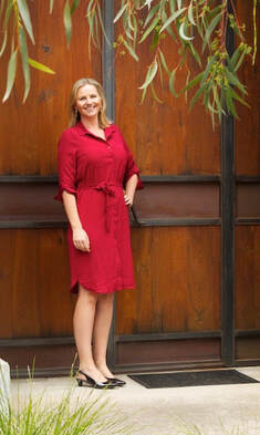 picture of Brisbane resume writer Nicole in a red dress