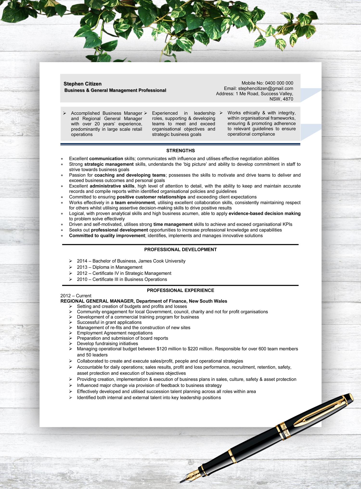 standard resume service